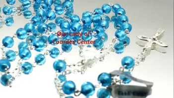 Light Blue Glass over Sterling Silver Beads Rosary