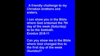 A friendly challenge to my Christian brothers and sisters.