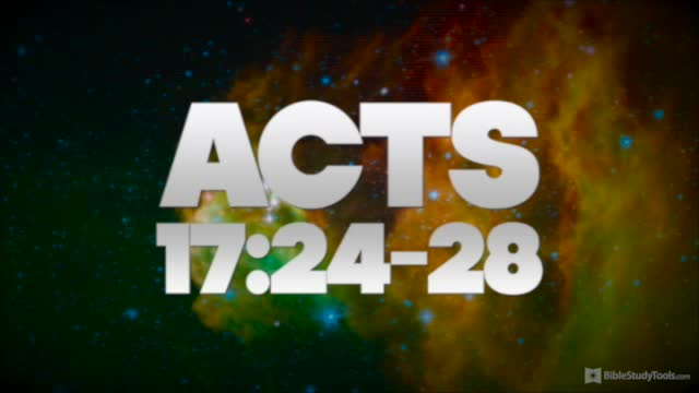 BibleStudyTools.com: In HIM We Live and Move - Acts 17 COMES ALIVE!
