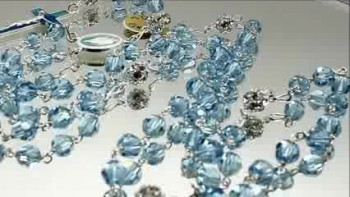 Crystallized by Swarovski Light Blue Crystal Beads Rosary