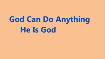 GOD CAN DO ANYTHING by Julliet Miller