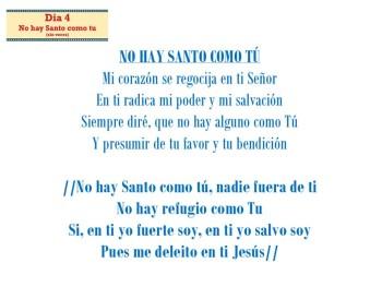 No hay Santo come tu (Dia 4) sin voces