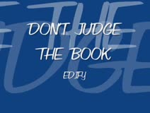 Don't Judge The Book