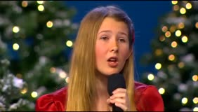 "12 year old girl sings ""Away in a Manger"""