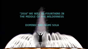 WORD FOR YOU, FOR 2016, BY Dominic Sola