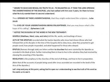 Apostolic Bible Study Section 2 of 7