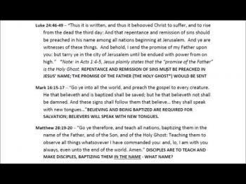 Apostolic Bible Study Section 3 of 7