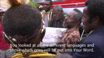 Kimyal Tribe of Papua receives Bible for the First Time.