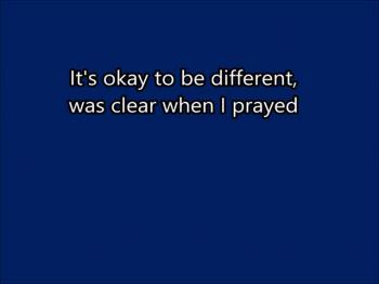 It's Okay To Be Different (Original) Lyrics