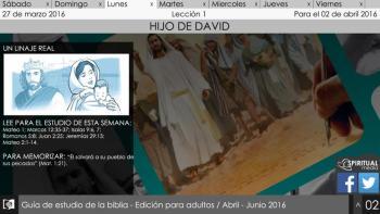 Lunes 28 de marzo: Un linaje real - Escuela Sábatica Narrada