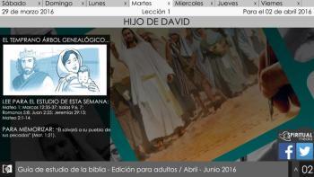 Martes 29 de marzo: El temprano árbol genialogico de Jesús - Escuela Sábatica Narrada