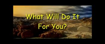 What Will Do It For You? - Randy Winemiller