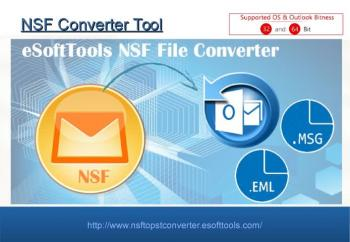 NSF file converter to recover & convert Lotus Notes file to Outlook, PST, EML and MSG