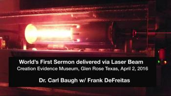 World's First Sermon via Free Space Laser Beam