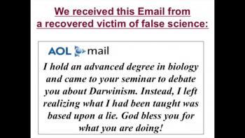 Science vs Darwinism  (closing)