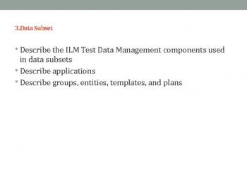 ILM DATA MANAGEMENT