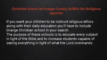 Best orange Christian school