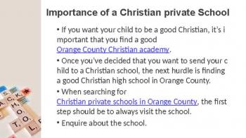 Best christian private school in OC