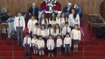 Iglesia Evangélica Pentecostal. Alabanza Coro de niños. 26-06-2016