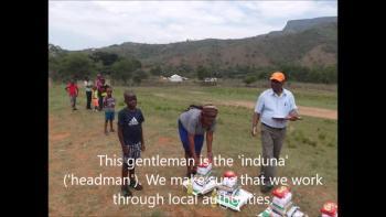 Feeding orphans in Zululand - Kwasizabantu
