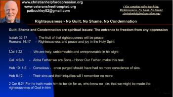 Guilt, Shame and Condemnation must go …