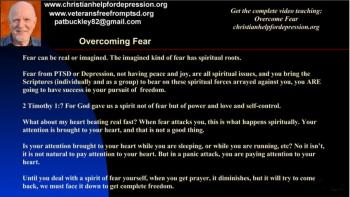 Depression panic attacks and Fear