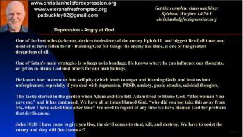 Depression anger towards God