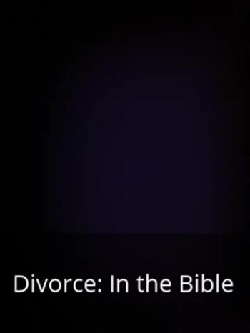 audio book - Divorce in the Bible part 2