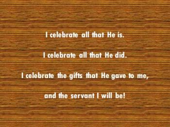 I Celebrate His Purpose
