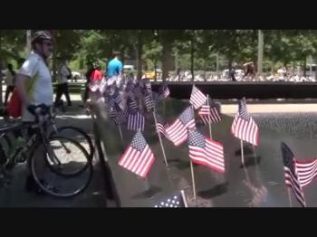 New York. 9 11 monument