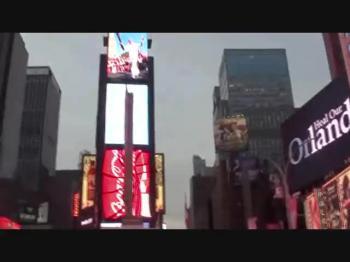 Time Square com mamae e Maria