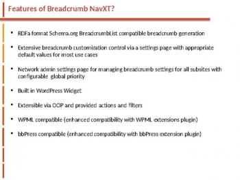 BreadCrumb NavXT websitecreationhub.com
