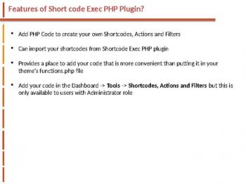 Shorcode Exe PHP websitecreationhub.com