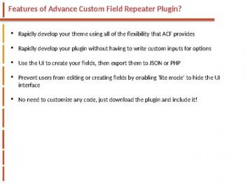 Advanced Custom Field Repeater websitecreationhub.com