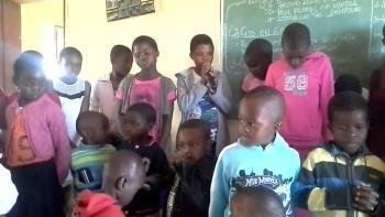 Sunday School children prais God