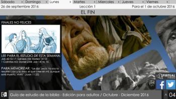 Escuela Sábatica Narrada: Lunes 26 de septiembre - Finales no felices [podcast]