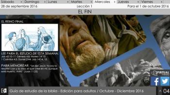 Escuela Sábatica Narrada: Miercoles 27 de septiembre - El reino final [PodCast]
