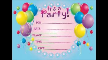 Birthday Invitations Online