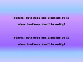Psalm 133 - Behold, How Good And Pleasant It Is! - By The Graceniks