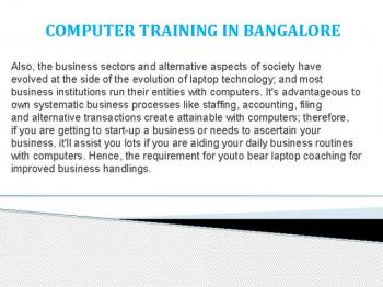 computer education in bangalore