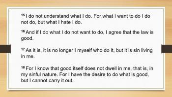 Romans 7: 15-25