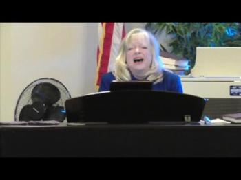 "Cheryl Raymes sings ""Oh How I Love Him"""