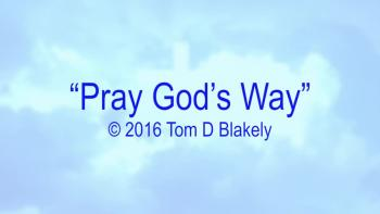 Pray God's Way