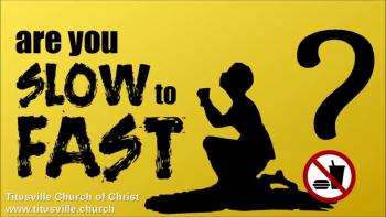 Are You Slow to Fast? Mark 9