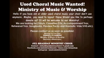 USED CHORAL MUSIC WANTED.