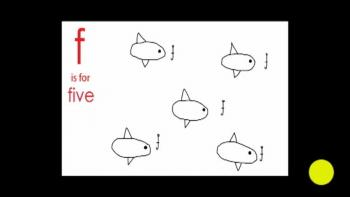 f is for five fish