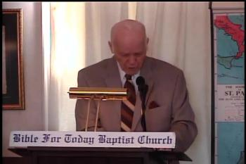 Sowing And Reaping  – Galatians 6:1-9 –  Pastor D. A. Waite  –  BFTBC – Bible For Today Baptist Church of Collingswood, New Jersey.