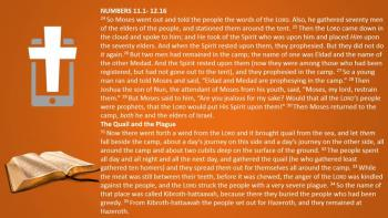 March 7th – Numbers 11:1 - 12:16 - Reading