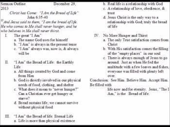 Weekly Sermon 12/29/13