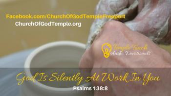 God Is Silently At Work In You